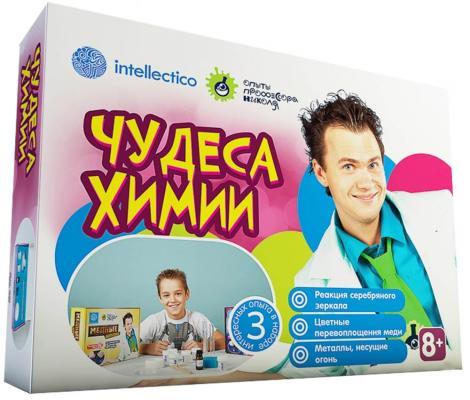 """Набор для опытов INTELLECTICO """"Опыты професора Николя"""" - Чудеса химии, 3 опыта"""