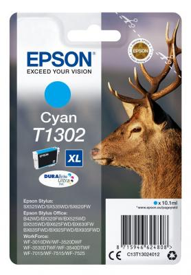 Картридж Epson C13T13024012 для Epson St SX525WD/SX535WD/St Of B42WD/BX320FW/BX625FWD/BX635FWD/WF-7015/7515/7525 голубой original cc03main mainboard main board for epson l455 l550 l551 l555 l558 wf 2520 wf 2530 printer formatter