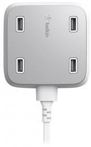 Автомобильное зарядное устройство Belkin F8M990VFWHT-APL 4 x USB 4.8 А белый автомобильное зарядное устройство hama auto detect 54183 4 x usb 4 8 а черный