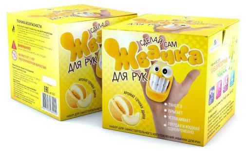 """Игровой набор Инновации для детей Юный Химик """"Жвачка для рук - Сочная дыня""""  825"""