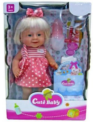 Кукла-младенец Shantou Gepai Прелестная малышка Y16203245 40 см писающая пьющая Y16203245 кукла shantou gepai мариночка 35 см со звуком пьющая писающая в ассортименте