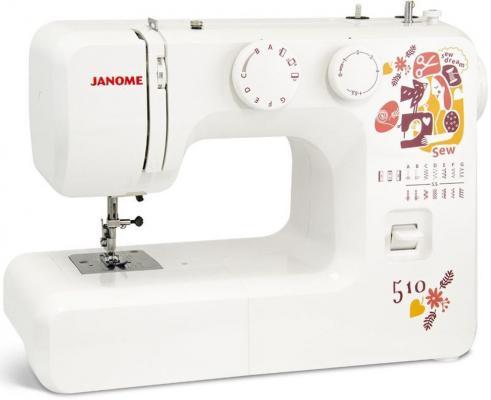 Швейная машина Janome Sew dream 510 белый швейная машинка janome sew line 500s