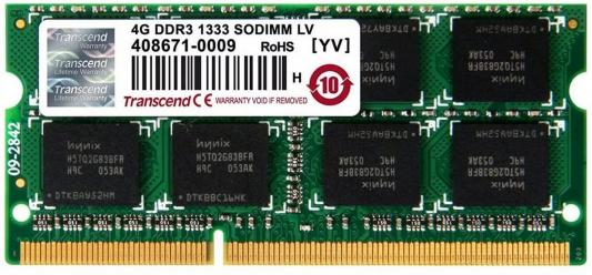 Оперативная память 8Gb 1333MHz DDR3 SODIMM Transcend 204pin TS1GSK64V3H