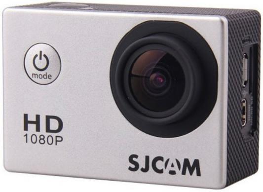 Экшн-камера SJCAM SJ4000 серебристый аквабокс sjcam для sj4000 черный