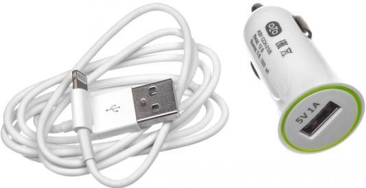 Автомобильное зарядное устройство Olto CCH-2105 HARPER-O00000563 USB 8-pin Lightning 1A белый автомобильное зарядное устройство olto cch 2120 3 1a 2 usb белый